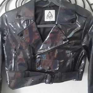 e2990ab6fbc2 UNIF Jackets & Coats | Iso Faux Fur Leopard Moto Jacket | Poshmark